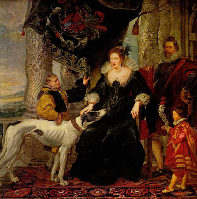 Peter Paul Rubens, Alethea Talbot with attendants and Sir Dudley Carleton